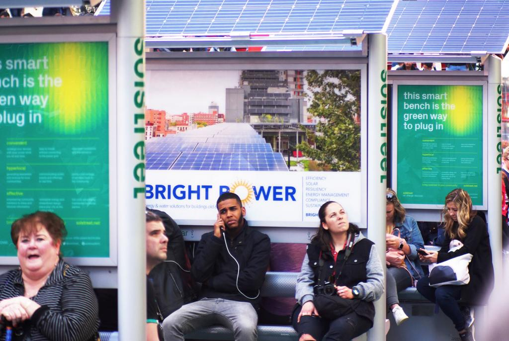 The solar-powered phone charging stations have been put to heavy use in Times Square.